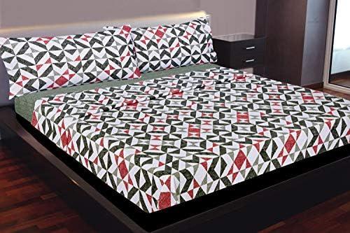 Montse Interiors Juego de sábanas Estampado geométrico Gris y Rojo (Zeus, para Cama de 90x190/200): Amazon.es: Hogar