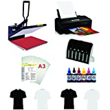 "16""X24"" Flat Heat Press A3 Epson Printer Paper Ink CISS Start-up KIT T-shirts"