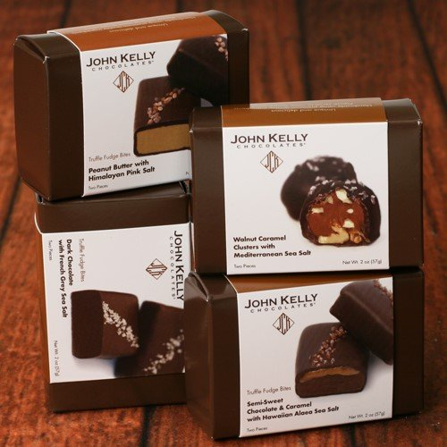(Truffle Fudge Bites by John Kelly - Chocolate Caramel with Hawaiian Alaea Sea Salt (2 ounce))