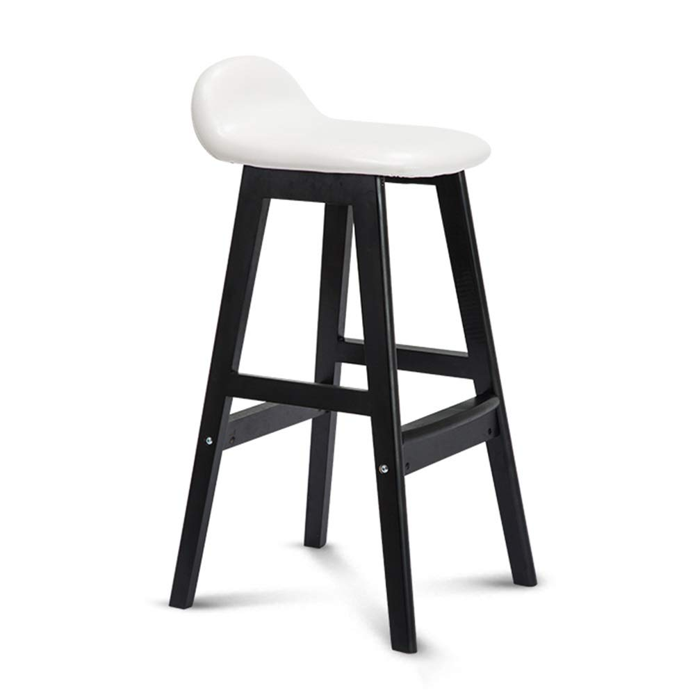 MEIDUO Chairs Bar Stools Modern Minimalist Bar Chair Low Backrest Padded High Stools Solid Wood Structure, Nordic Kitchen Barstool Front Desk Chair (Color : Brown, Size : 60cm)