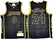 24# 8# Kobe Basketball Jerseys for Men Women, Retired Edition Retro Embroidery Multiple Logo Sports Tops