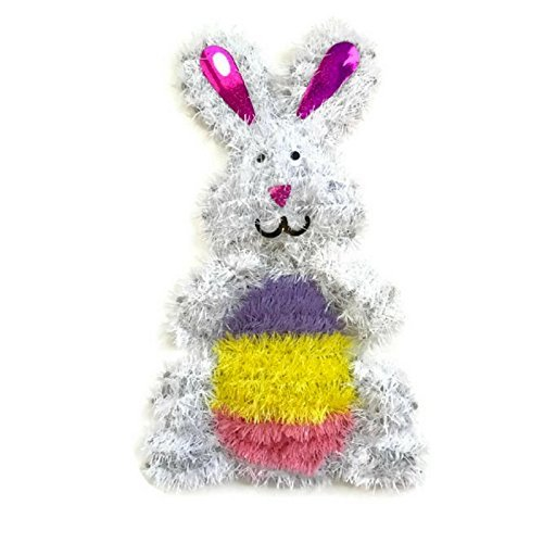 Full Body Tinsel Easter Bunny - Size 14 inches