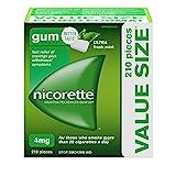 Nicorette Gum, Quit Smoking Aid, Nicotine Gum, Ultra Fresh Mint, 4mg, 210 pieces