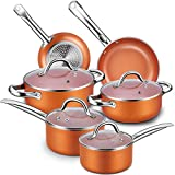 Best Induction Cookware Sets - Nonstick Cookware Set, Chitomax Hard Porcelain Enamel Aluminum Review