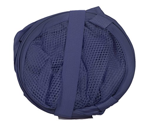 PRO-MART DAZZ Deluxe Mesh Pop-Up Laundry Hamper with Side Pocket and Handles, Blue