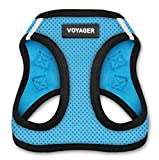 "Voyager Step-In Air Dog Harness - All Weather Mesh, Step In Vest Harness for Small and Medium Dogs by Best Pet Supplies - Baby Blue Base, X-Small (Chest: 13"" - 14.5"")"