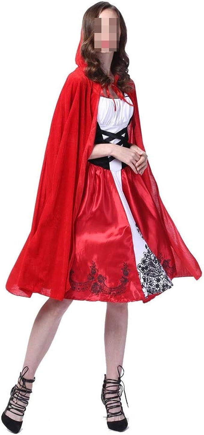 KODH Disfraz de Caperucita Roja for mujer nuevo Vestido con ...
