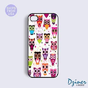 iPhone 4 4s Tough Case - Cute Owls iPhone Cover