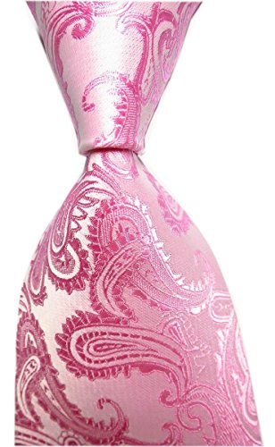 Mens Pink Necktie Cool Silk Tie For Men Charming Suit Fitness Dress Fashion Gift