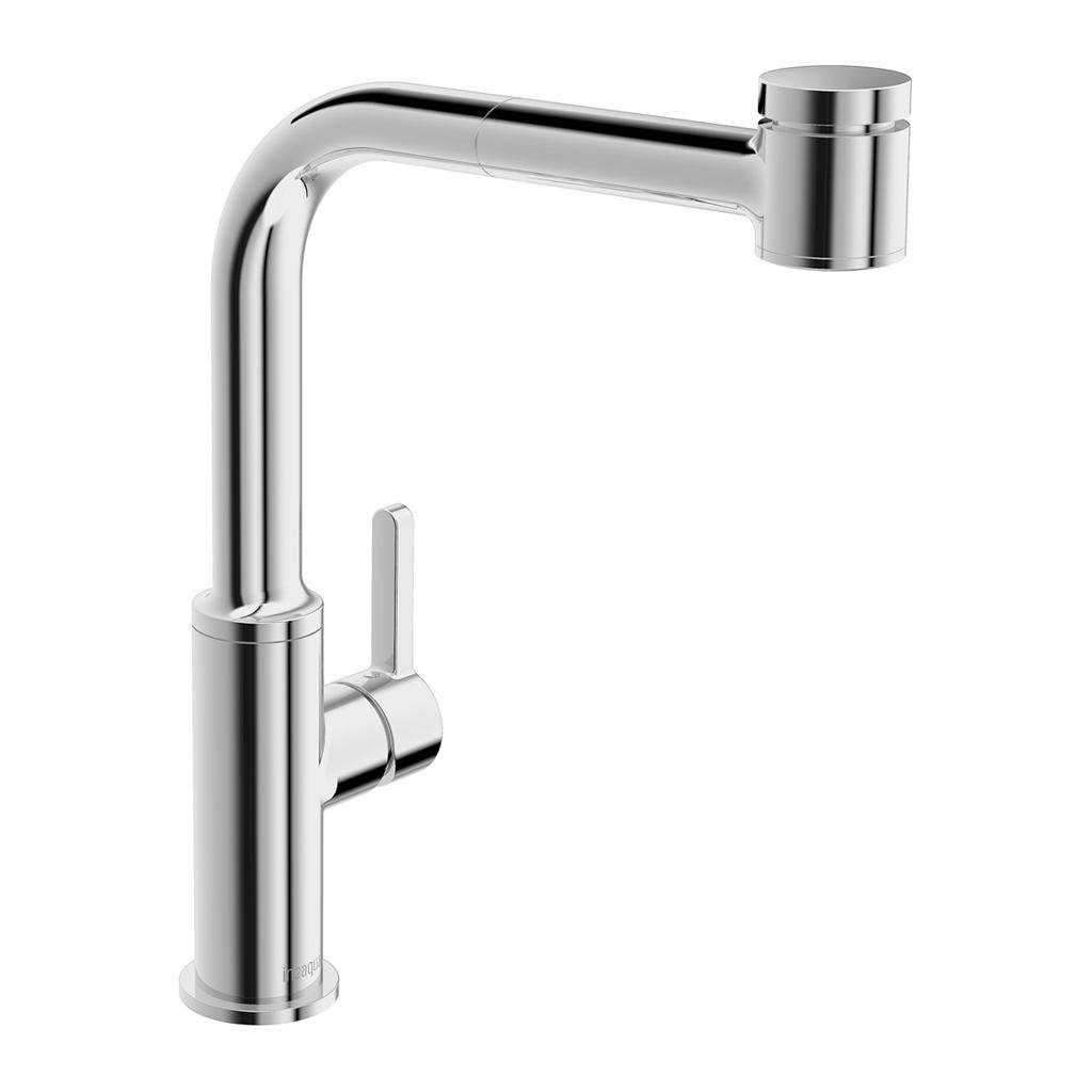 in2aqua, 6001.1.00.2, in2aqua Edge Single-Lever Kitchen Faucet With Swivel Spout Veggie Spray, Polished Chrome
