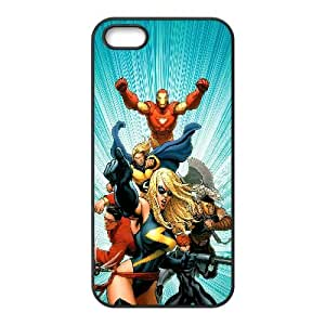 The Mighty Avengers Comic iPhone5s Cell Phone Case Black yyfabc-613259