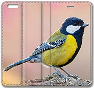 Bird in the Spring Pink Blurred Background Leather Cover for iPhone 6 4.7 inch(Compatible with Verizon,AT&T,Sprint,T-mobile,Unlocked,Internatinal) by supermalls