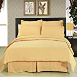 ''Fit for Royalty'' wrinkle free King Bed in a Bag set; Silky soft microfiber for a rich slumber; Crisp Gold color for any room reno style