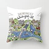Washington DC fashion pillow covers accent pillows cushioncase 18 x 18