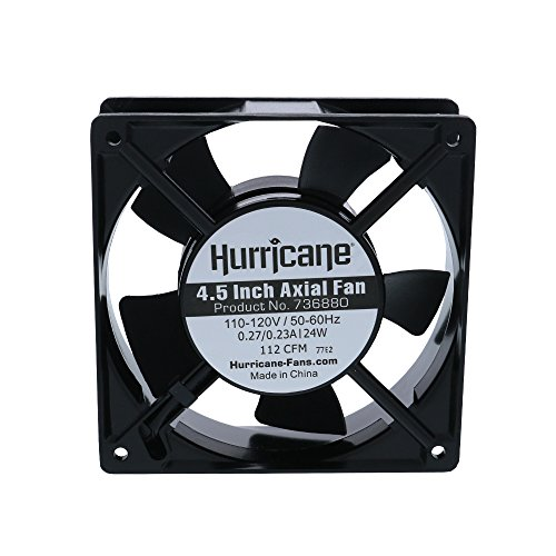hurricane 4.5-inch axial fan for greenhouses, 112cfm