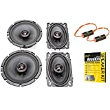 Skar Audio TX65 6.5 and TX46 4x6 Coaxial Speaker Upgrade Package with Stinger Roadkill and 0-1.2Khz Bass Blockers