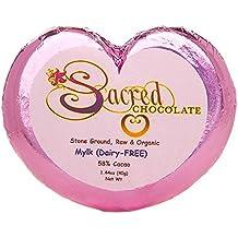 Sacred Chocolate MYLK ( DAIRY FREE ) Maple Sweetened, Stone-Ground, Organic Vegan RAW Chocolate 58% Cacao 1.44oz Bar (12 Pack)
