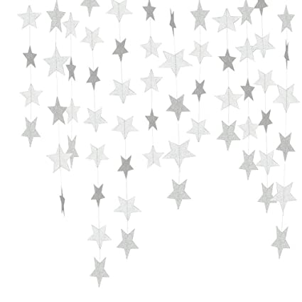 twinkle gold glitter star banner christmas decoration 13ft pentagram stars hanging party supplies for wedding