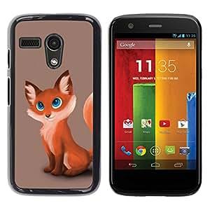// PHONE CASE GIFT // Duro Estuche protector PC Cáscara Plástico Carcasa Funda Hard Protective Case for Motorola Moto G 1 1ST Gen / Fox lindo Cub /