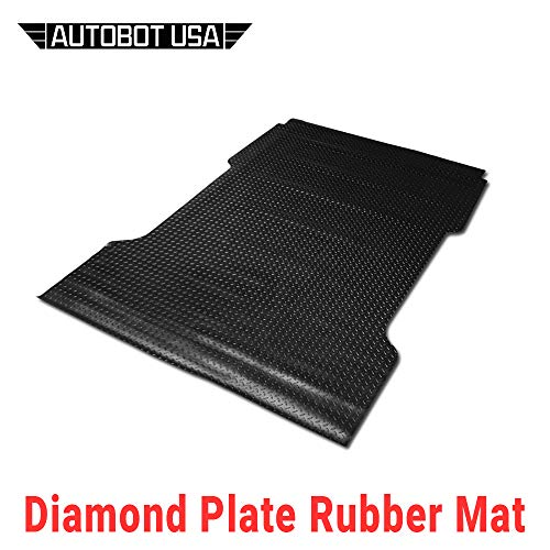Autobotusa Black Finished 97-03 for Ford F150/F250 Flareside 6.5 Ft Short Truck Bed Rubber Diamond Floor Mat Carpet