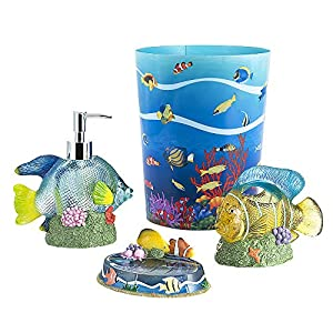 51wemCJfCmL._SS300_ 70+ Beach Bathroom Accessory Sets and Coastal Bathroom Accessories 2020