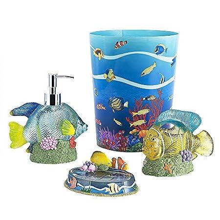 51wemCJfCmL._SS450_ 50+ Beach Bathroom Accessory Sets and Coastal Bathroom Accessories
