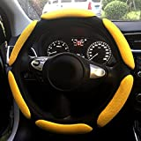 Rayauto Steering Wheel Cover -Odorless, Cooler Hands in Summer, Warmer Hands in Winter (Yellow)