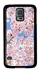 Samsung Galaxy S5 Beautiful pink flowers PC Custom Samsung Galaxy S5 Case Cover Black