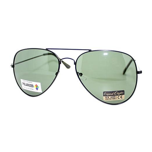 Air Force Polarized Police Style Cop Pilot Aviator Sunglasses Black 28896a82cf7