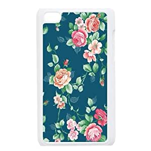 Vintage Floral Pattern For Ipod Touch 4 Phone Cases NDG624893