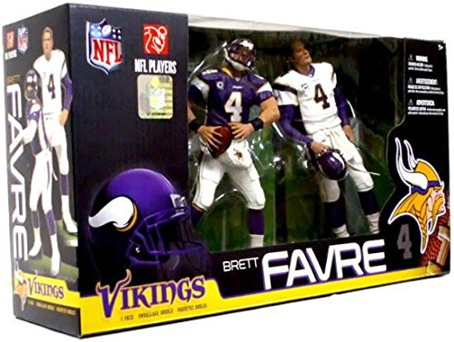 McFarlane Toys NFL Sports Picks Exclusive Action Figure 2Pack Boxed Set Brett Favre (Minnesota Vikings) Home Away Jerseys - Exclusive Boxed Set