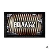 BLINY Custom Doormat Push It Textures Steel Metal Go Away Decor Doormat Indoor/Outdoor Door Mat 15.7 Inch by 23.6 Inch Non-woven Fabric Non slip