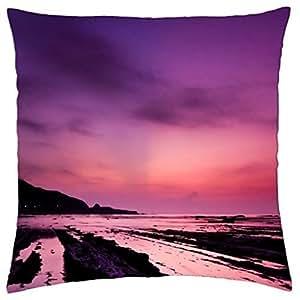 Mediterranean Sea Ebb at Twilight - Throw Pillow Cover Case (18