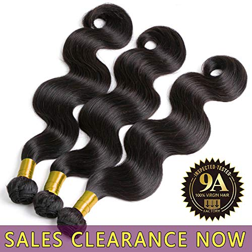 9A Brazilian Virgin Human Hair 3 Bundles Body Wave Cheap Peruvian Remy Wavy Hair extensions Products Best Indian Unprocessed Hair Weave Natural Black Color Real 100% Malaysian Hair Weft 14 16 18 Inch (Best Virgin Hair Wholesale Companies)