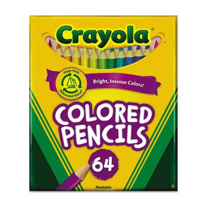 Crayola Products - Crayola - Colored Woodcase Pencil, HB, 3.3 mm, Assorted, 64/Pack - Sold As 1 Set - Thick, soft leads. - Perfect for color mixing and blending. - Practice detailed techniques. - Built-in sharpener. -]()