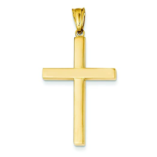 Amazon 14k yellow gold high polish finish plain cross pendant 14k yellow gold high polish finish plain cross pendant aloadofball Image collections