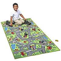 "Kids Carpet Extra Large 80"" x 40"" Playmat City Life - Learn & Have Fun Safe! Children"