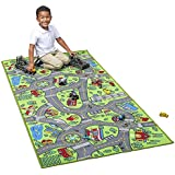 """Kids Carpet Extra Large 80"""" x 40"""" Playmat City Life - Learn & Have Fun Safe! Children's Educational, Road Traffic System, Multi Color, Play Mat Rug Great for Playing with Cars, Bedroom Playroom, Area"""