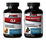 Product review for antiaging supplement - CLA - GRAPE SEED EXTRACT - COMBO - grape seed capsules - (2 Bottles COMBO)