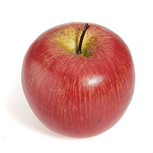 Gleader1pcs Decorative Large Artificial Fake Red Apple Plastic Fruits Home Party Decor