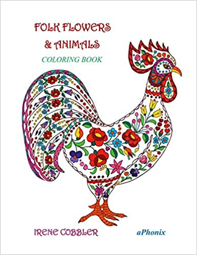 Folk flowers & Animals: Coloring book: Amazon.es: Irene Cobbler ...