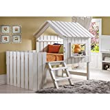 Donco Kids 1350TLRP Series Bed, Twin, Rustic Pearl