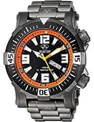 REACTOR Mens Poseidon Quartz and Stainless-Steel-Plated Diving Watch, Color:Black (Model: 55601)