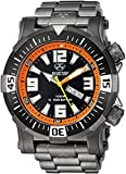 Reactor Men's 'Poseidon' Quartz and Stainless-Steel-Plated Diving Watch, Color:Black (Model: 55601)