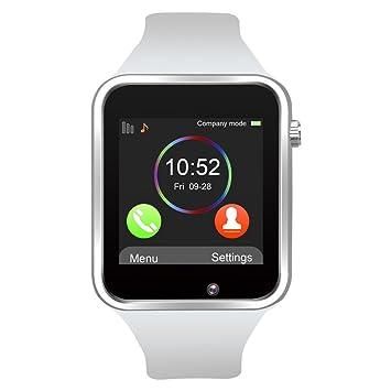 Reloj Inteligente, Jukkarri con Bluetooth y Ranura para Tarjeta SIM para Usar Como Teléfono Móvil. Reloj Deportivo con Rastreador de Actividad, ...