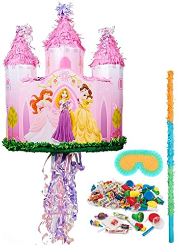 BirthdayExpress - Disney Princess Castle Pull-String Pinata Kit - ()