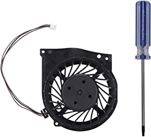 Replacement Cooling Fan, Internal Silent Cooling Fan Cooler with Screwdriver for PS3 Slim KSB0812HE 4000 Gamepad Easy to Install