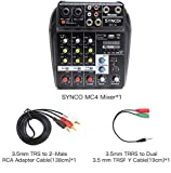 SYNCO MC4 Audio-Mixer-Bluetooth-USB-Record