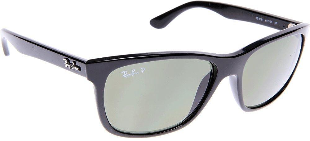 Ray-Ban Negro polarizado verde clásico del G-15 de 57 mm RB4181 gafas de sol Wayfarer