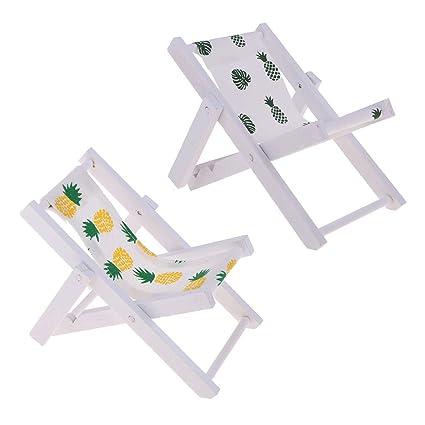 Amazon.com: FRECI 2 piezas de silla de casa de muñecas de ...